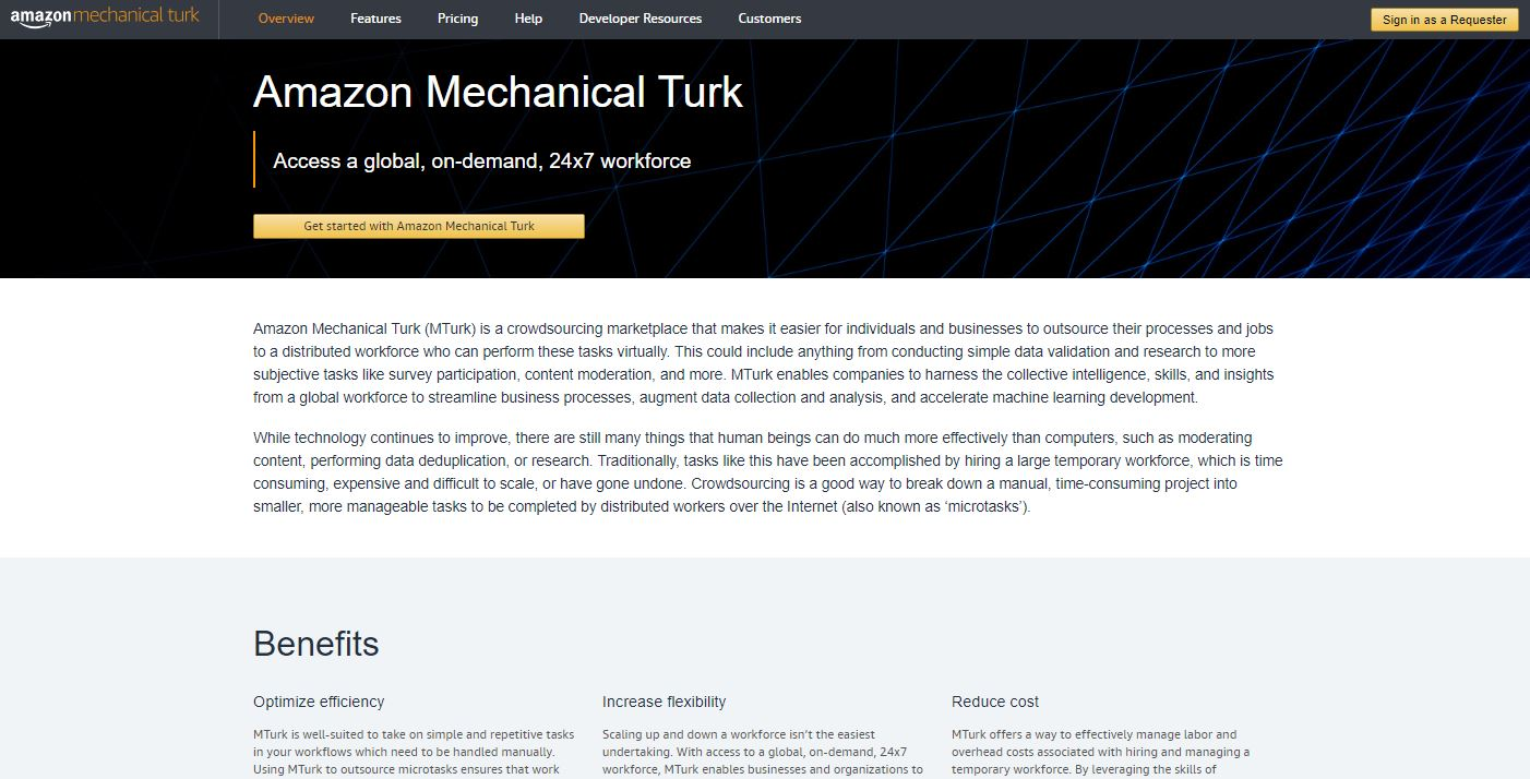 how to make money online without paying anything amazon mturk