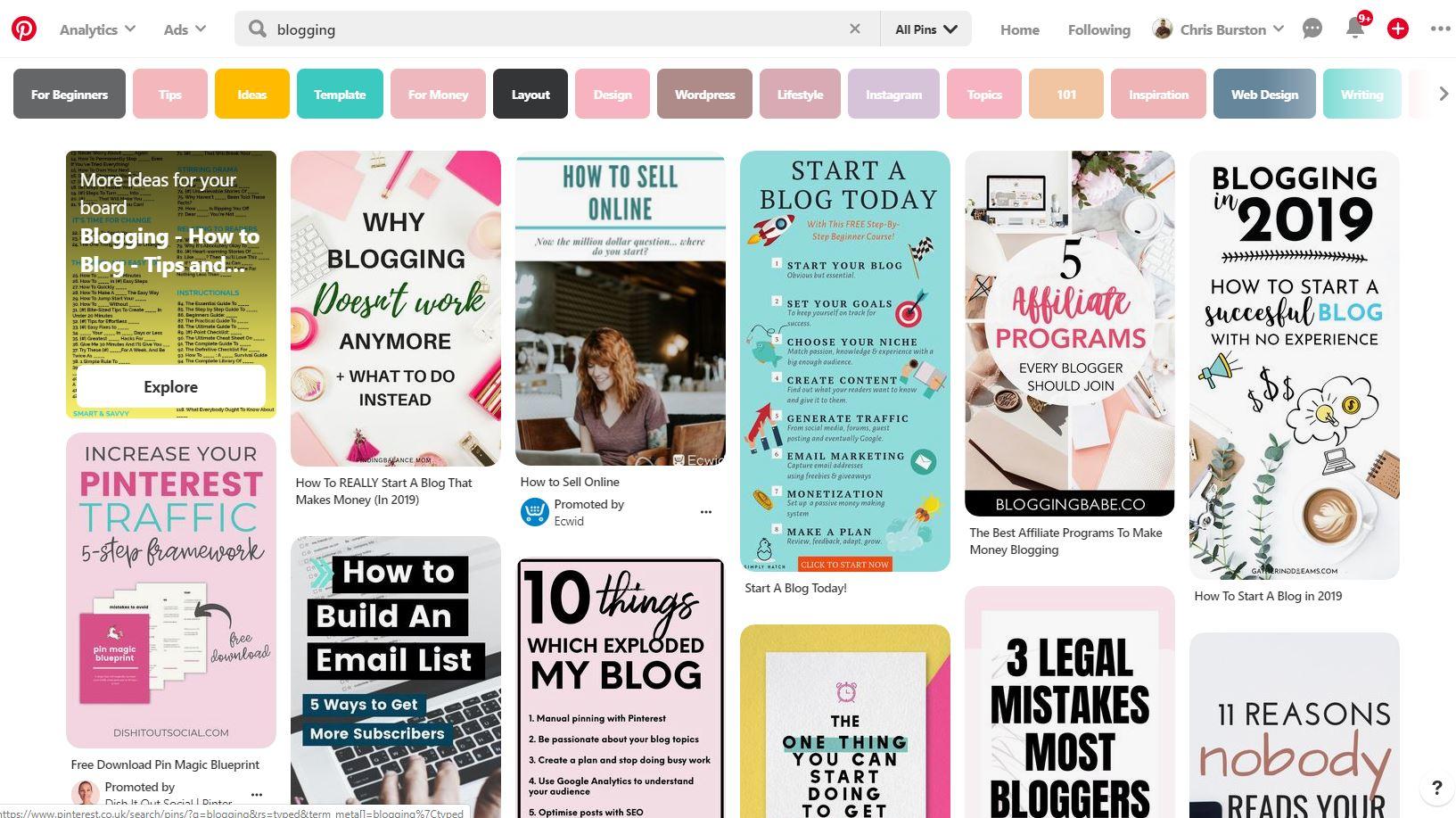 blogging niches 7